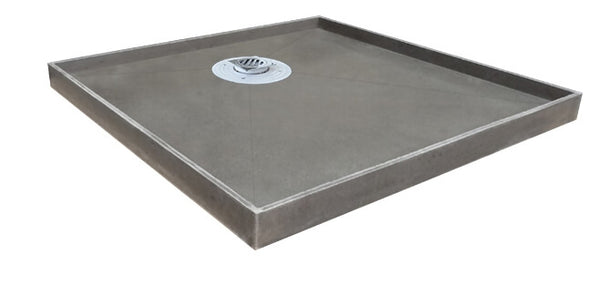 Tiled Shower Base with Puddle Flange - Rear Waste