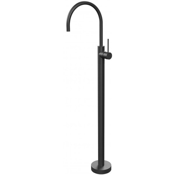 Vivid Slimline Floor Mounted Bath Mixer - Black