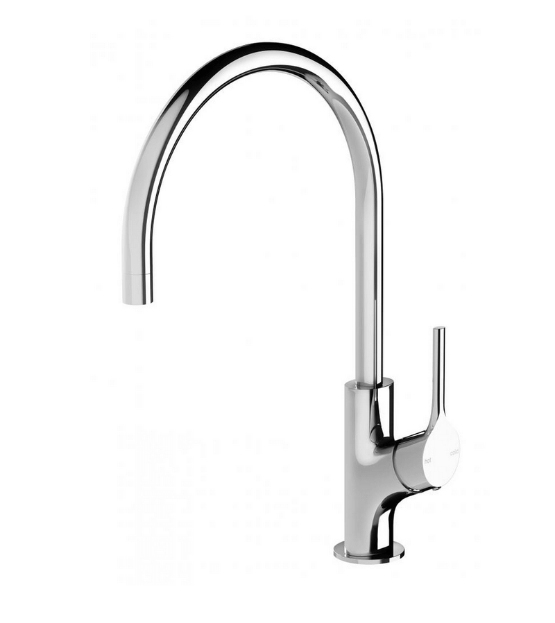 Vivid Slimline Oval Sink Mixer 220mm, Chrome