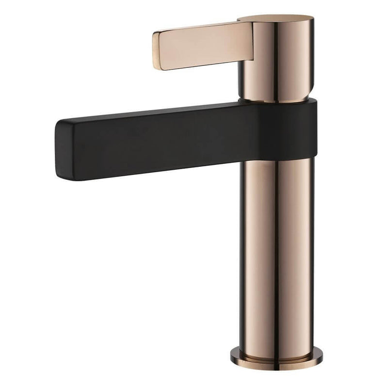 Vivo Oro Rosa Basin Mixer - Rose Gold & Black