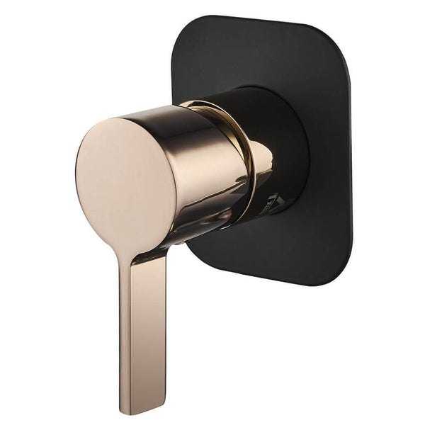 Vivo Oro Rosa ShowerBath Mixer - Rose Gold & Black