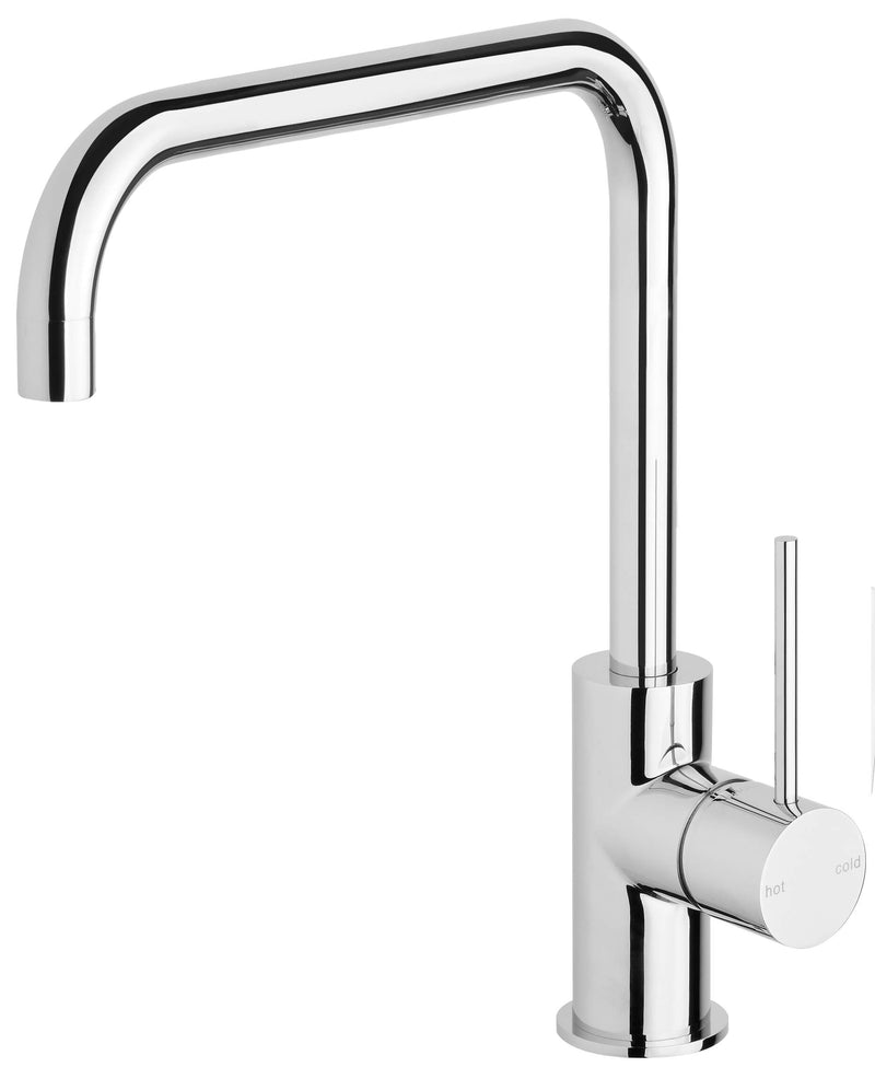Vivid Slimline Squareline Sink Mixer 220mm - Chrome
