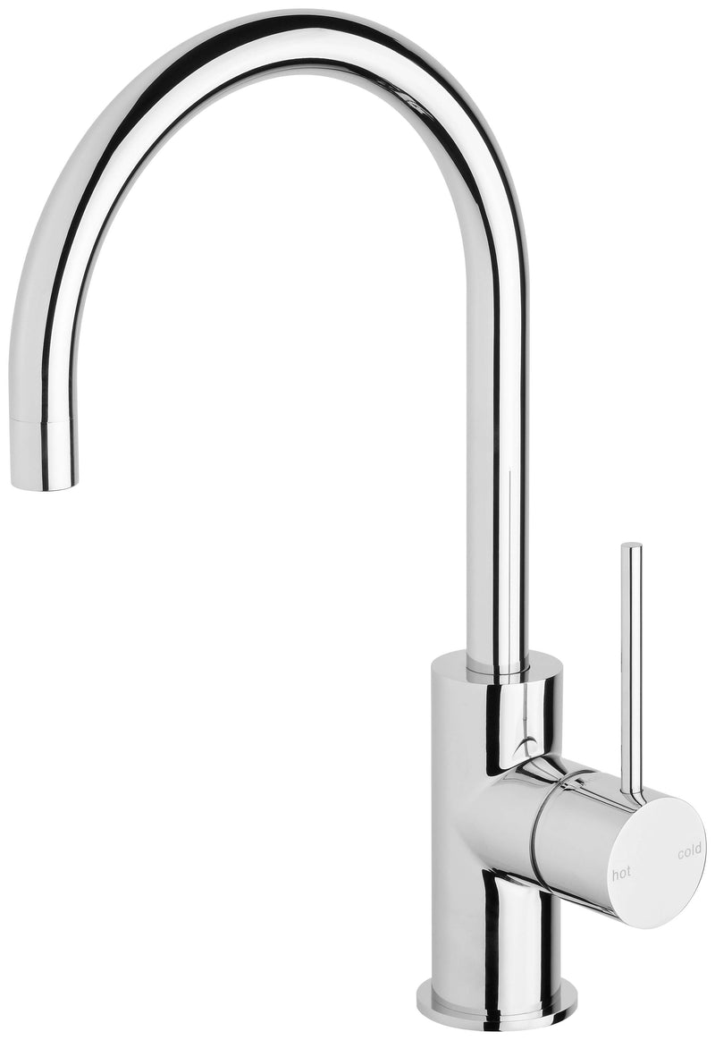 Vivid Slimline Gooseneck Sink Mixer 160mm, Chrome