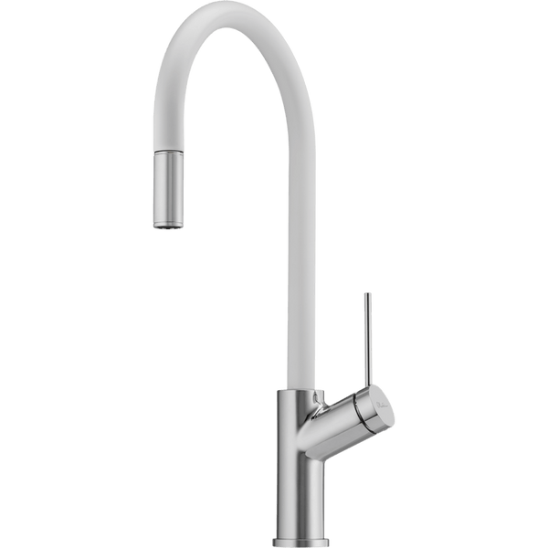 Vilo Pull Out Sink Mixer Santorini White