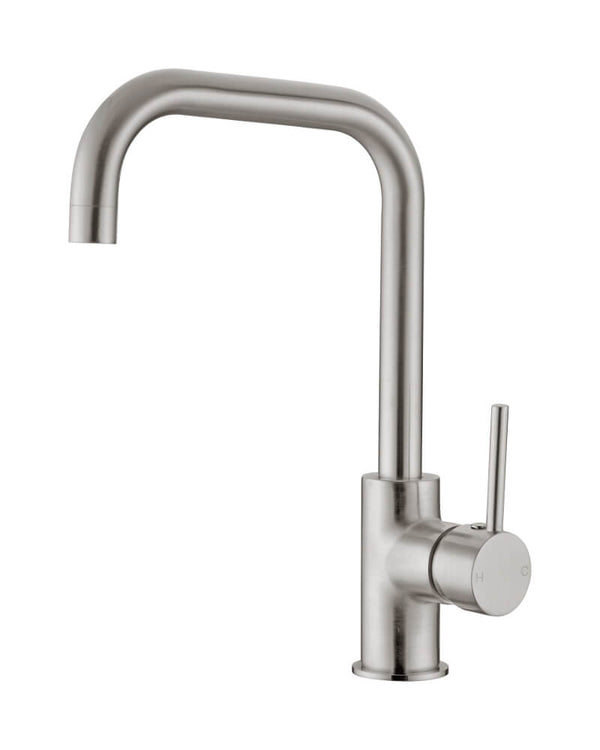Dolce Square Shape Kitchen Mixer - Brushed Nickel