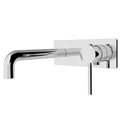 Dolce Wall Basin Mixer Stylish Spout Chrome