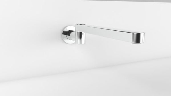 Zenith 320mm Wall Swivel Bath Spout - Various Finishes