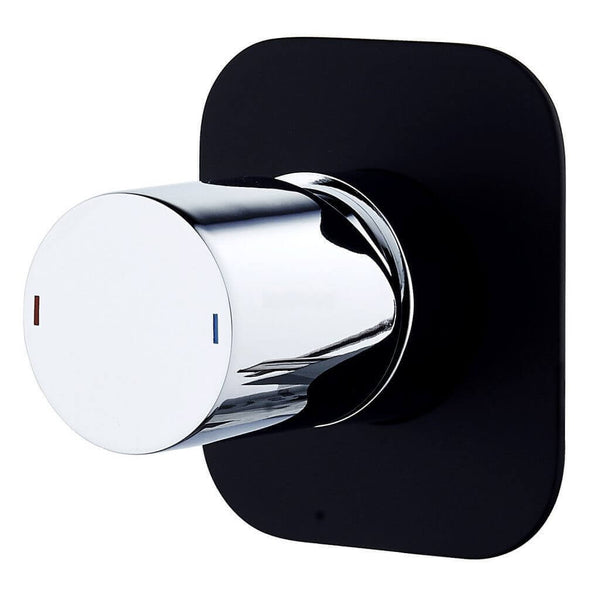 Zenon ShowerBath Mixer - Black & Chrome