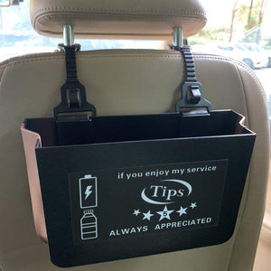 Car Organizer Box With 3 in 1 Fast Charge Cable for Rideshare Drivers U and L Drivers - My Handy Accessories Store