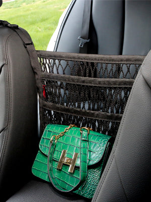 Barrier of Seat Back 3-Layer Net Bag Car Mesh Organizer for Pet Kids Cargo Tissue Purse Holder - My Handy Accessories Store