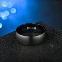 Fashion Men's Black Titanium Ring Matte Finished Classic Engagement Anel Jewelry For Male Wedding Bands - MegaDealin