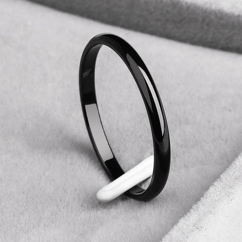 Titanium Steel  Rose Gold  Anti-allergy Smooth  Simple Wedding Couples Rings for Man or Woman Gift