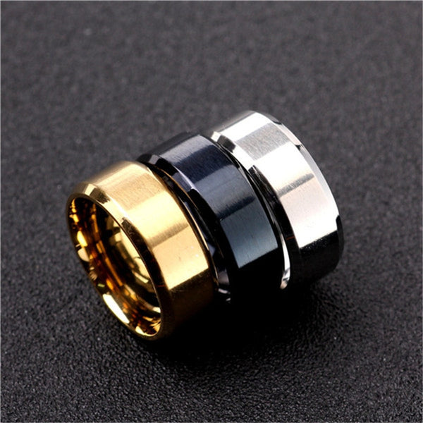 3 Color Models Ring Men Titanium Black Gold Anti-allergy Smooth Simple for Man or Woman Gift - MegaDealin