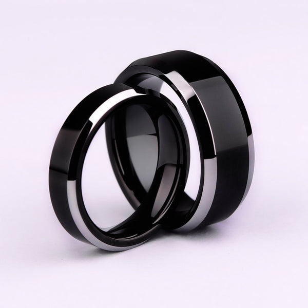Simple Smooth Black/3colors Titanium Ring For Men Wedding Rings for women - MegaDealin