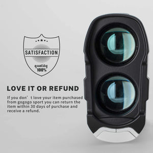 Gogogo Laser Rangefinder for Golf & Hunting|Slope Mode Continuous Scan|GS24 White 650Y