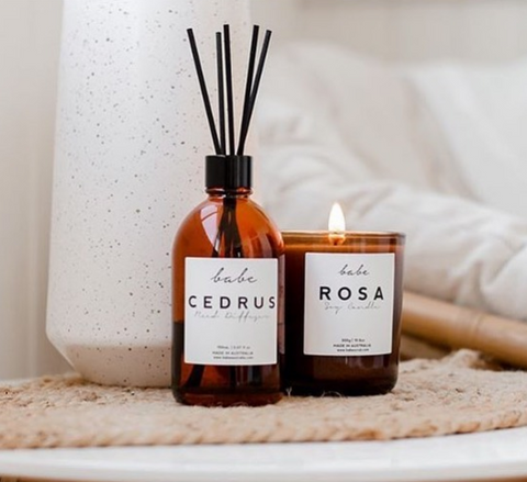 cozy winter candles