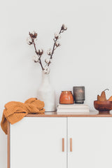 Warm colours and tones at home