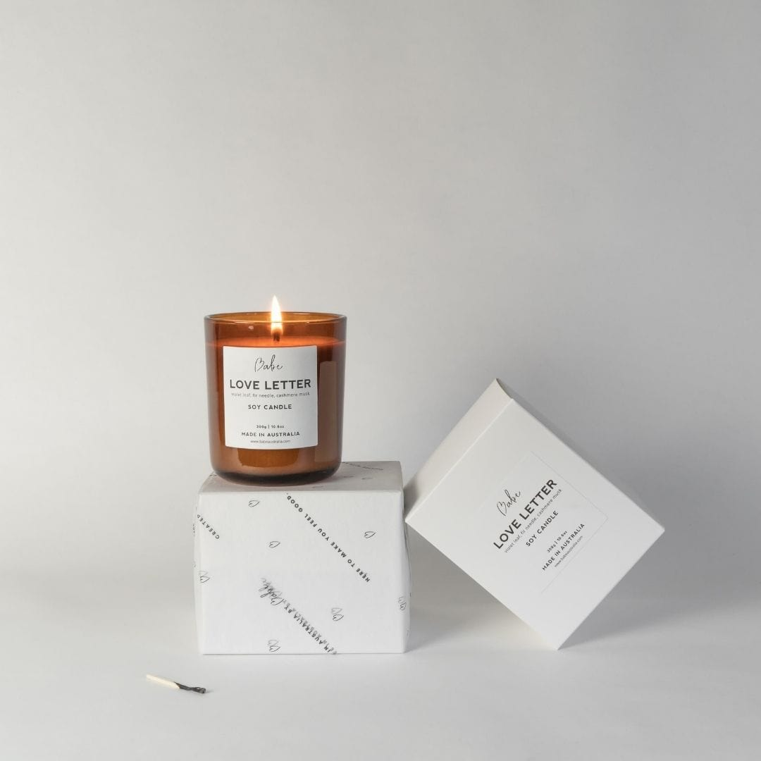 LOVE LETTER Luxury Soy Candle