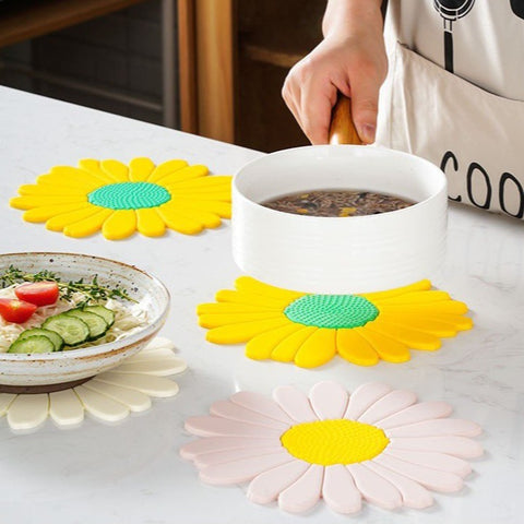 Heat Insulation Placemat - White Daisy