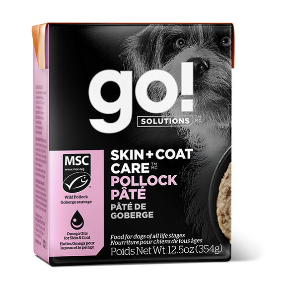 GO! Dog Wet Food Skin & Coat - Pollock Pate