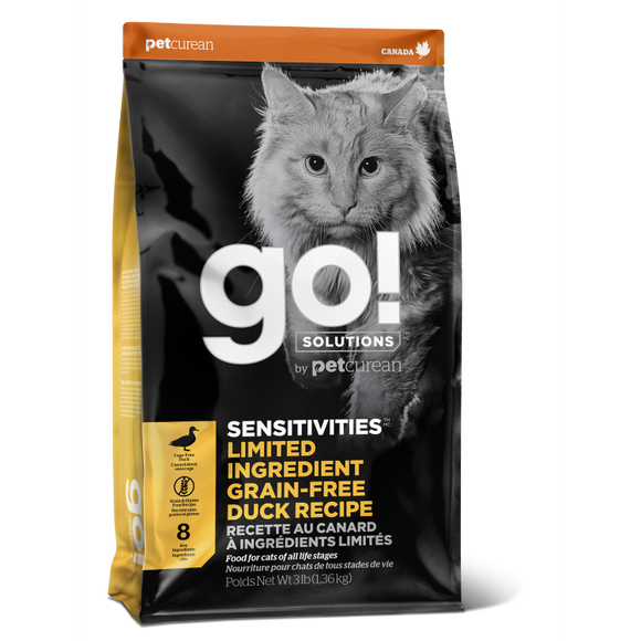 GO! Cat Food Sensitivities - LID GF Duck
