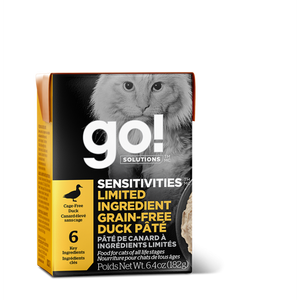 GO! Cat Wet Food Sensitivities - LID GF Duck Pate