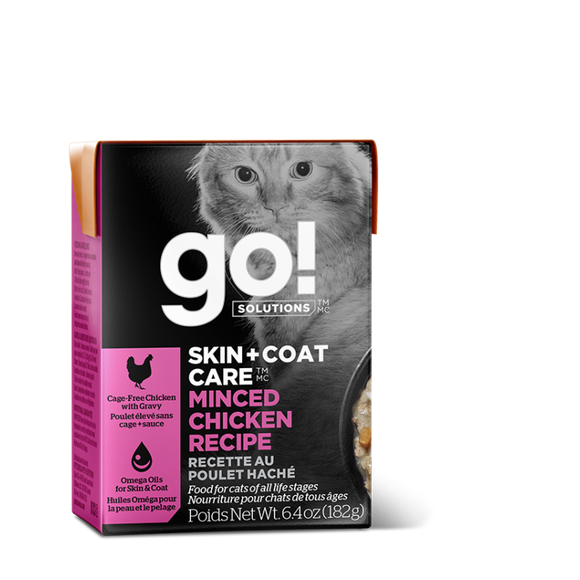 GO! Cat Wet Food Skin & Coat - Minced Chicken