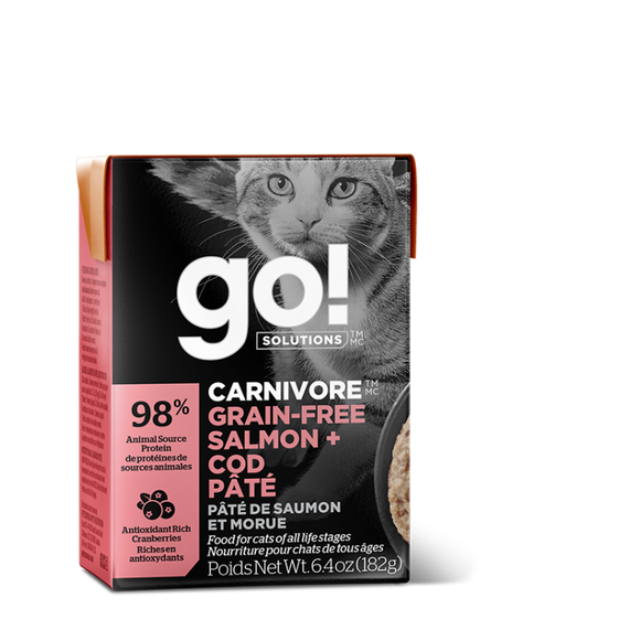 GO! Cat Wet Food Carnivore - GF Salmon & Cod Pate