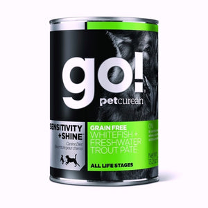 GO! Dog Canned Sensitivity & Shine - GF Whitefish & Trout Pate