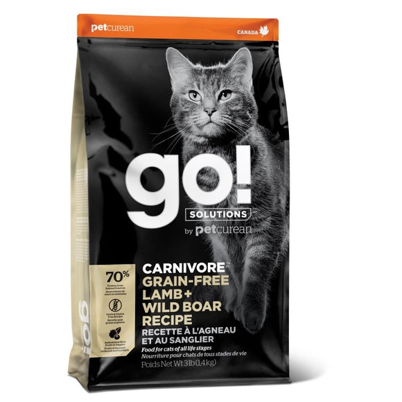 GO! Cat Food Carnivore - GF Lamb & Wild Boar