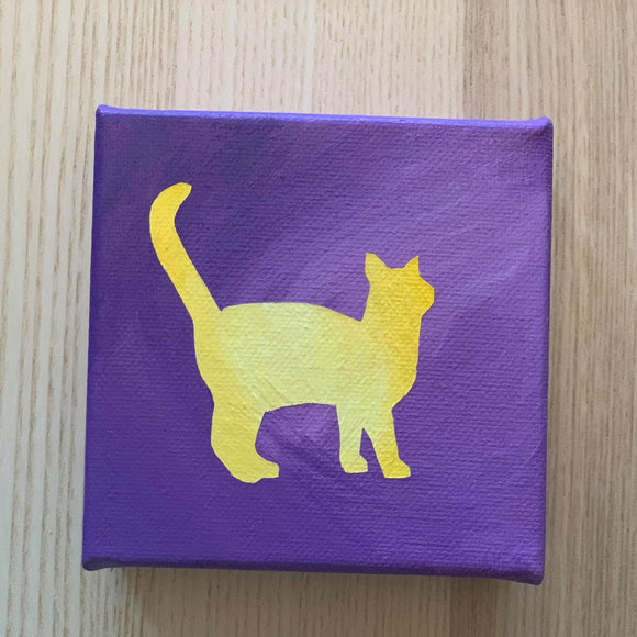 Canvas Art - Purple and Yellow