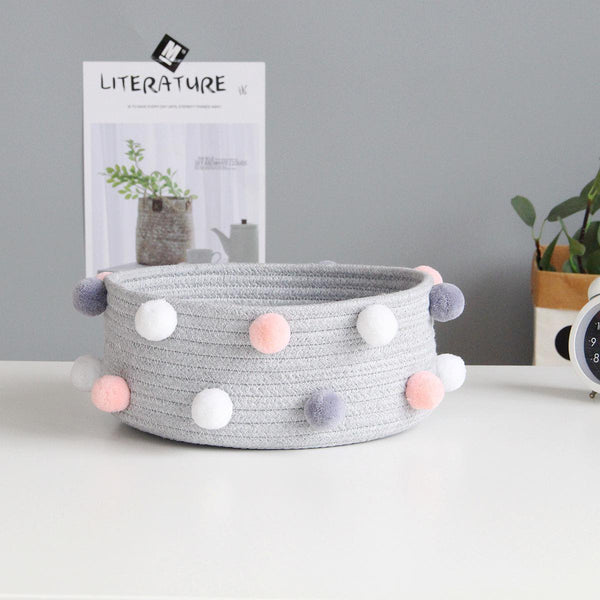 Cotton Rope Woven Storage Basket