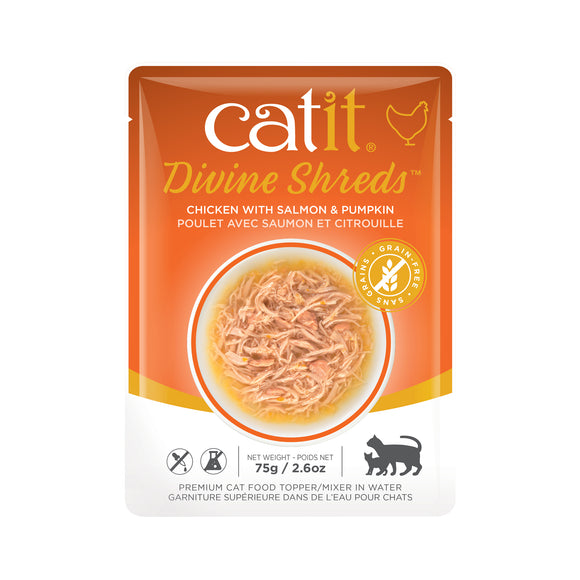 CATIT Divine Shreds - Chicken, Salmon & Pumpkin