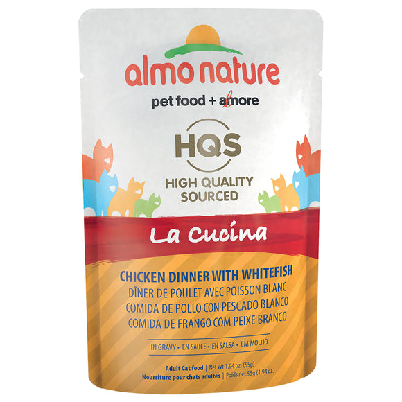ALMO Nature Cat Pouch - HQS La Cucina - Chicken & Whitefish