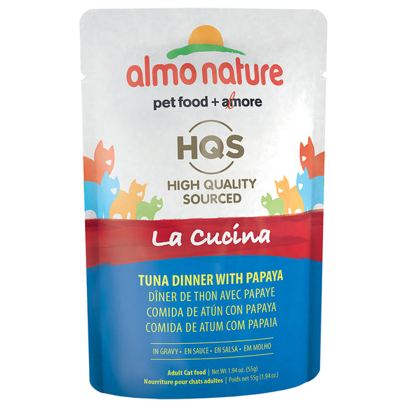 ALMO Nature Cat Pouch - HQS La Cucina - Tuna & Papaya