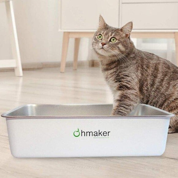 OhmBox - Stainless Steel Cat Litter Box (Calgary ONLY)
