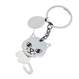 Metal Cat Keychain