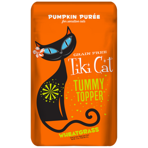 TIKI Cat Pouch Tummy Topper - GF Pumpkin Puree & Wheatgrass