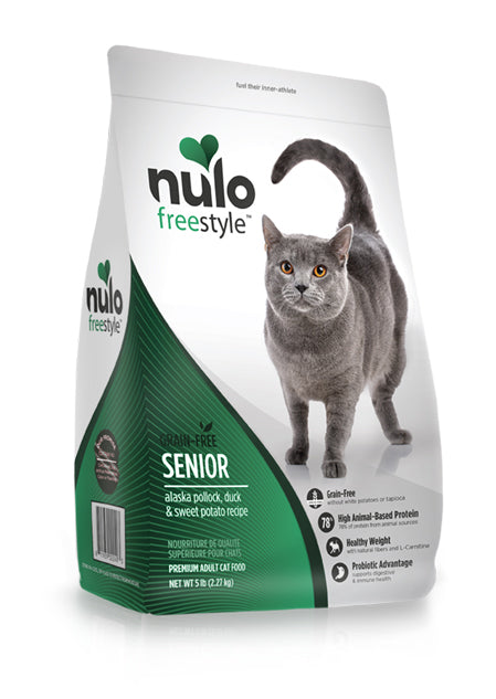 NULO Cat Food - Senior Cat - Alaska Pollock, Duck, & Sweet Potato