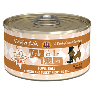 Cats in the Kitchen Canned - Fowl Ball - Chicken & Turkey