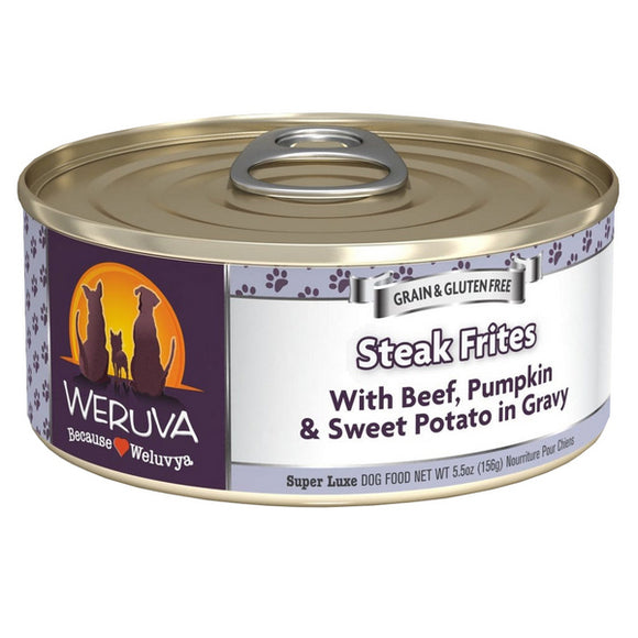 WERUVA Dog Canned - Steak Frites - Beef & Pumpkin