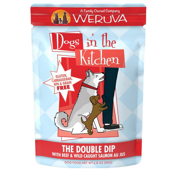 Dogs in the Kitchen Pouch - Double Dip - Beef & Salmon