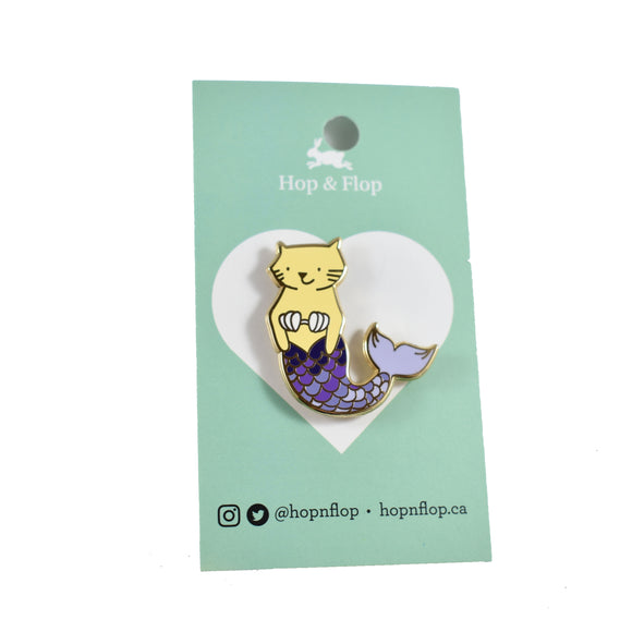 Enamel Pin - Cat Mermaid