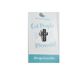 Enamel Pin - Cat People Mewnited!