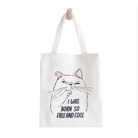 Tote Bag - I was Born so Free and Cool