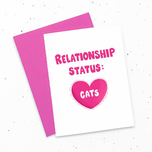 Card - Relationship Status: Cats