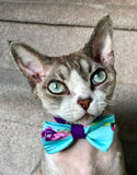 Floral cat small pet bow-tie