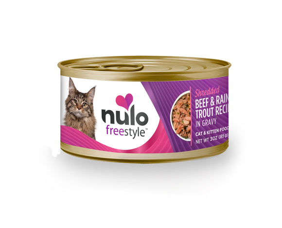 NULO Cat Canned - Shredded Beef & Rainbow Trout