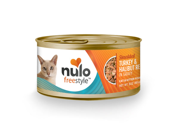 NULO Cat Canned - Shredded Turkey & Halibut