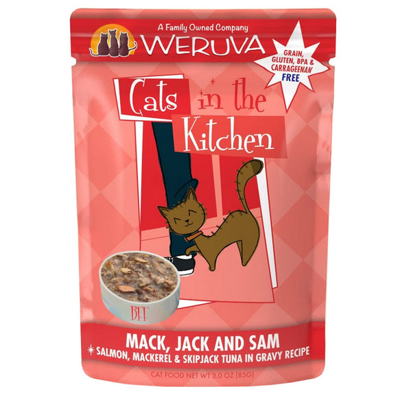 Cats in the Kitchen Pouch - Mack, Jack & Sam - Salmon & Tuna